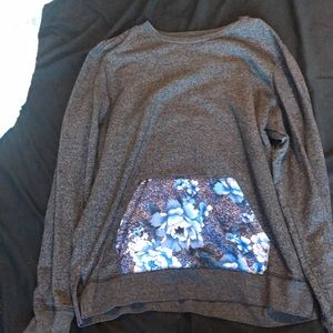 Men's On the Byas floral grey sweater